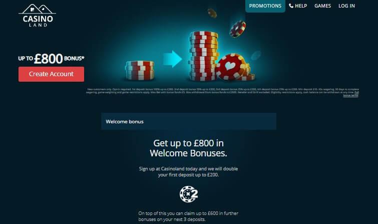 casino land bonus