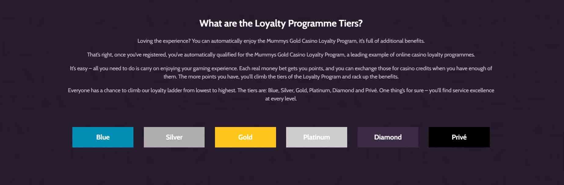 Mummys Gold Casino bonuses