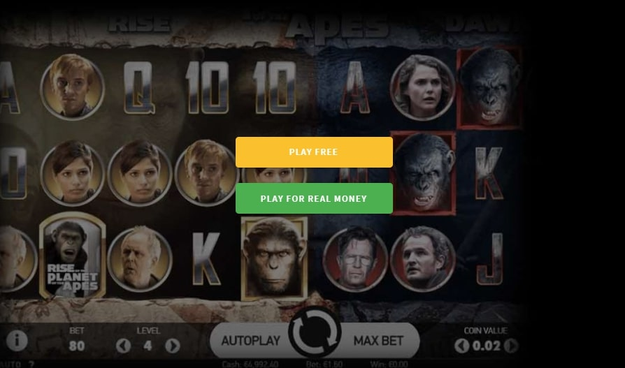 Planet of the Apes Online Pokie