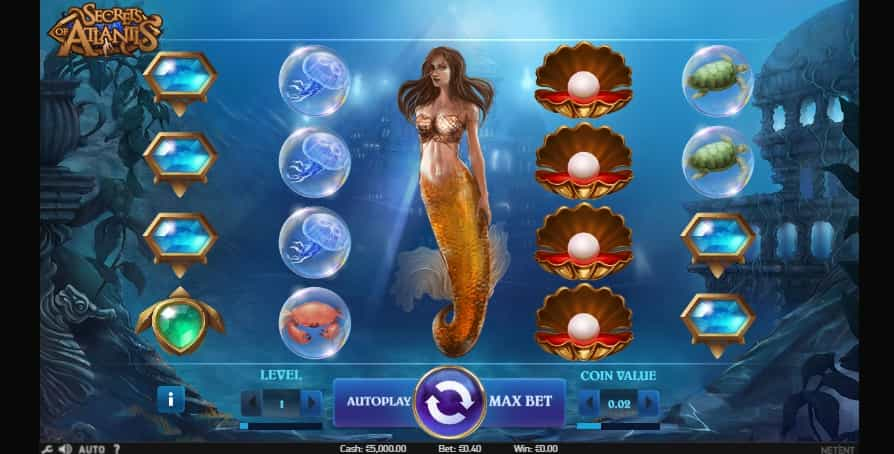 Secrets of Atlantis Online Pokie NZ